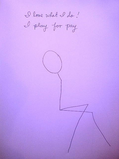 I Play for Pay by Waywardspirit Art